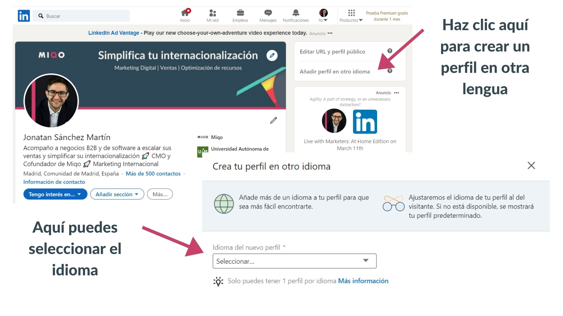 crear buen perfil de linkedin
